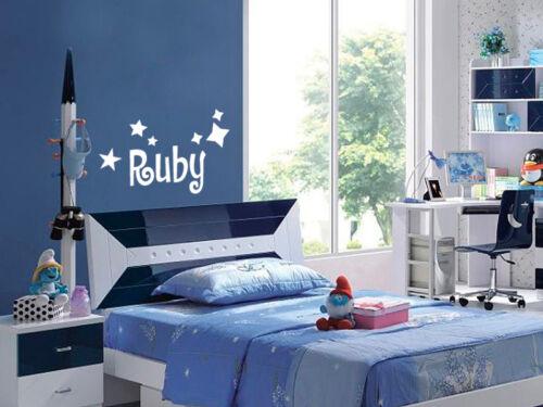 Children//Kids and Stars Fonts/&Colours Custom Text//Name Vinyl Wall//Door Sticker