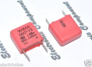 10pcs-WIMA MKP-Y2 3300P 3300PF 3,3nF 3.3nF 300Vac 10/% pich:10mm RFI Capacitor