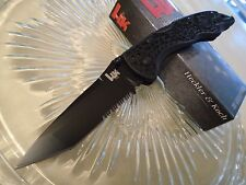 Heckler & Koch Pika II Black Tanto Midlock Pocket Knife 8Cr14MoV 14452SBK New