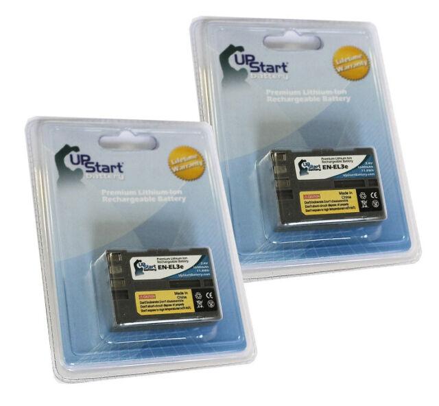 2x Battery for Nikon D80, D100, EN EL3, MB D80 Grip