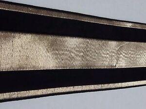 Vintage-Religioso-Design-Color-Oro-e-Nero-Bendaggio-Casula-Seta-7-6cm