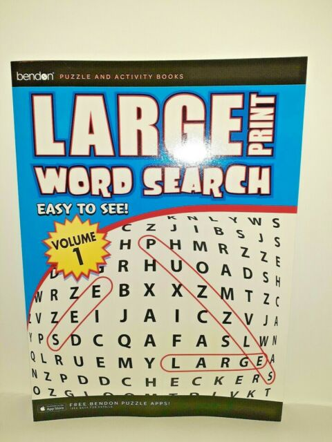 Bendon Large Print Easy To See Word Search Vol  1   63 Crossword Puzzles