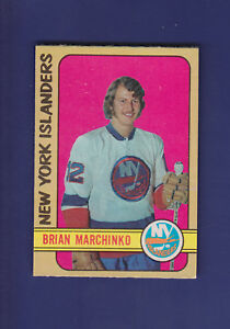 Brian-Marchinko-RC-1972-73-O-PEE-CHEE-OPC-Hockey-179-NM-New-York-Islanders