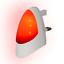 blanc Plug in Rouge Automatique DEL lumière Nuit Crépuscule 2 Dawn DEL Sensible