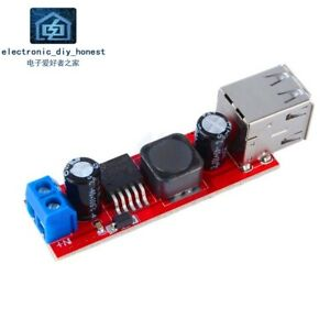 Dual-USB-output-9V-12V-24V-36V-to-5VDCDC-3A-step-down-voltage-regulator-module