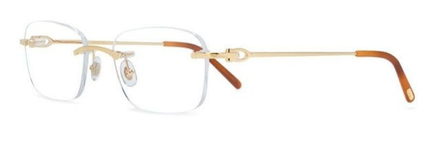5cb0fdc67bfc Cartier Eyeglasses Gold CT 0050O 001 France 53mm Authentic New Frames Rxable
