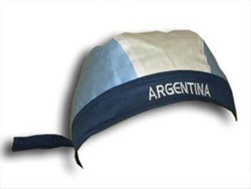 100/% Baumwolle ARGENTINIEN Argentina Bandana Universalgröße NEU