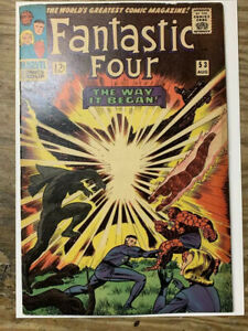 Fantastic-Four-53-Marvel-Comic-Book-1st-Klaw-amp-2nd-Black-Panther-FN-VF