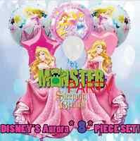 8 X Combo Sleeping Beauty Aurora Disney Princess Birthday Party Balloons