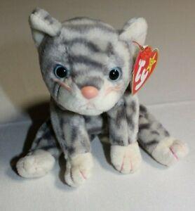 Ty-Beanie-Baby-1999-Silver-the-Cat-14-RETIRED-Plush-Stuffed-Animal