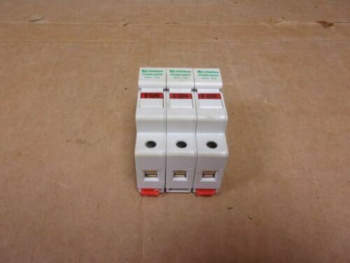 LittleFuse Powersafe Din Rail Midget Fuse Holder With Fuses 600V 30A 3P