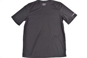 Brooks-Mens-Training-Fitted-Plain-Crew-Neck-Short-Sleeve-Shirt-SZ-M-Black