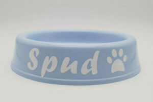 Dishes, Feeders & Fountains Aggressive Bnwt Petzplus Small Personalised Name Blue Plastic Puppy Bowl Made In Aus Relieving Heat And Thirst.