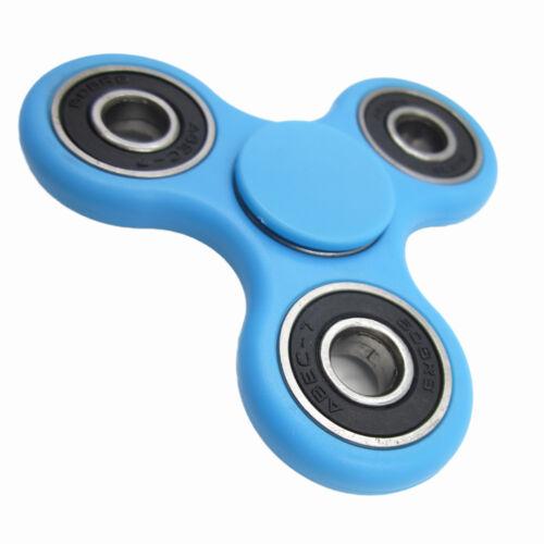 Tri Spinner Hand spinner Fidget Spinner For Autism ADHD EDC DESK Blue