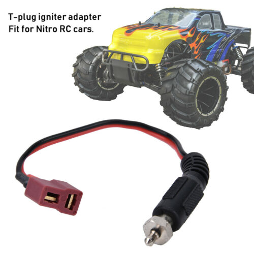 Plastic T-Plug Igniter Adapter Battery Charging Adapter for Nitro RC Car Parts