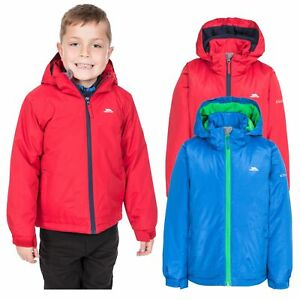 Trespass-Rudi-Boys-Waterproof-Jacket-Raincoat-with-Hood-Blue-Red