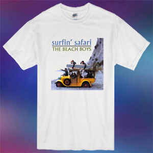 The Beach Boys Band Surfin Safari Album Cover Men S White T