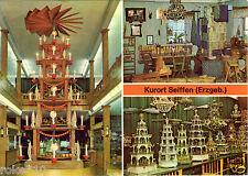 AK DDR Kurort Seiffen Bild und Heimat Reichenbach Ansichtskarte Foto Pyramide