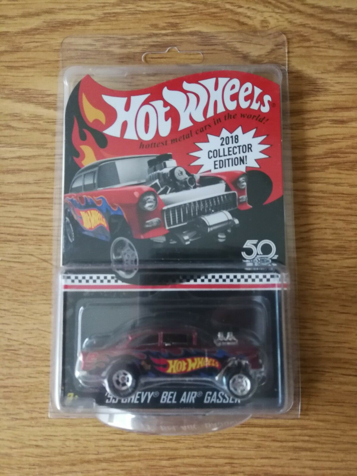 Hot Wheels 50th Anniversary 2018 Mail-in '55 Chevy Bel Air Gasser in Predector