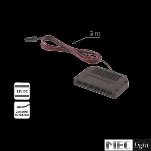 MINI-Stecker Anschluss 6er Verteiler-Buchse für MINI-Stecker mit 2m Kabel
