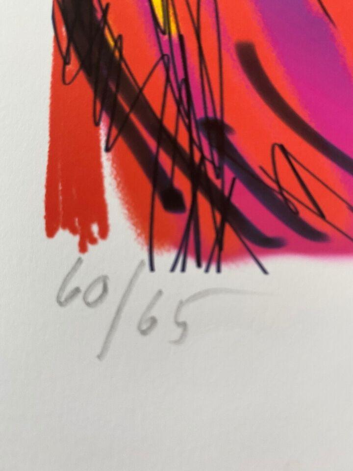 Litografi, Uffe Christoffersen, motiv: Tiger