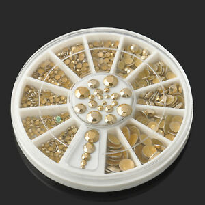 5-Sizes-Wheel-Womens-Nail-Art-Decoration-DIY-3D-Acrylic-Glitter-Gold-Rhinestone