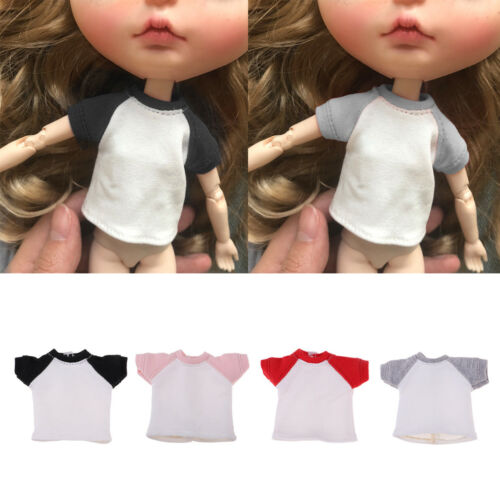 Fashion Doll T-Shirt Short Sleeve for 1//6 Blythe Azone Licca Doll Clothes
