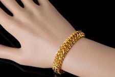 Damen Herren Armband Dubai 19 cm x 11mm echt  999 Gold 24 Karat vergoldet  1279