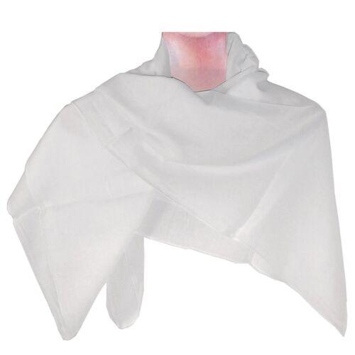 Halstuch 100 x 100 cm weiß einfarbig Baumwolle Uni Tuch Kopftuch PORTOFREI