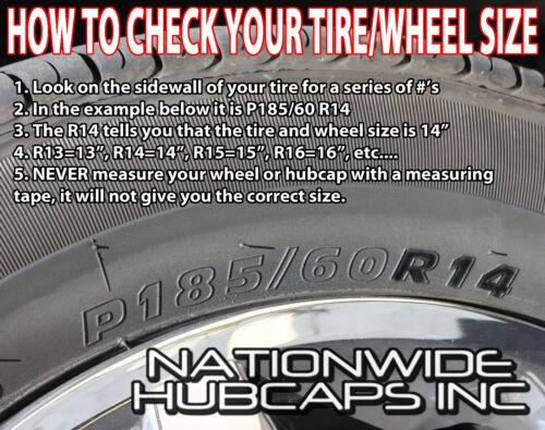 "SET OF 4 15/"" Hub Caps Full Wheel Covers Rim Lug Cover Hubs 7 Spokes Metal Clip"