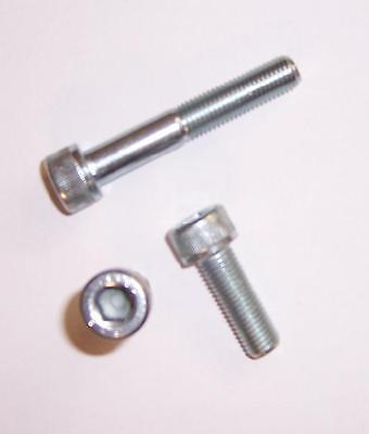 2St verzinkt mit Feingewinde M12x1,25x40 Zylinderschrauben DIN 912//12.9 galv