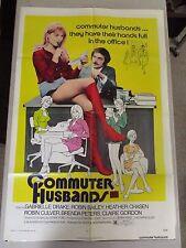 Vtg 1 sht 27x41 Movie Poster Commuter Husbands 73 Gabrielle Drake Sexploitation