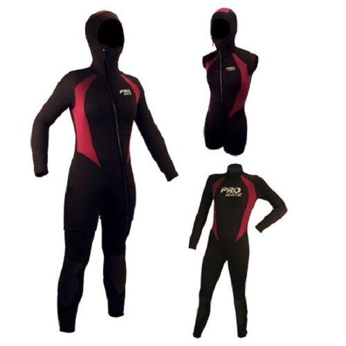 Promate Avalon 6mm Women's 2-Piece Hooded Semi-Dry Full Suit Scuba Dive Wetsuit