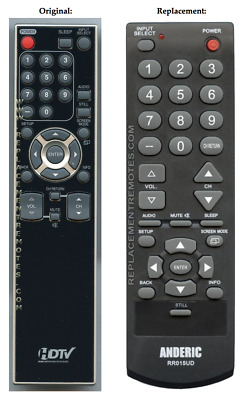 Original Funai NF015UD TV Replacement Remote Control by Anderic | eBay