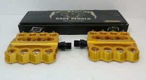 Genuine Nos Speedplay Brass Knuckles Pedal Set Gold Chrome Moly Brand New Ebay