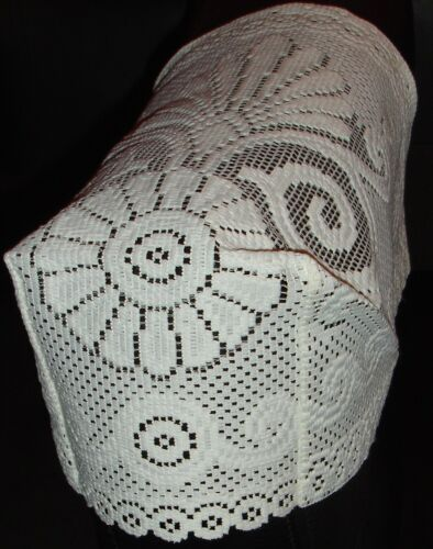 Heavy Weight Polyester Lace Arm Caps And Settee  Backs In White /& Cream