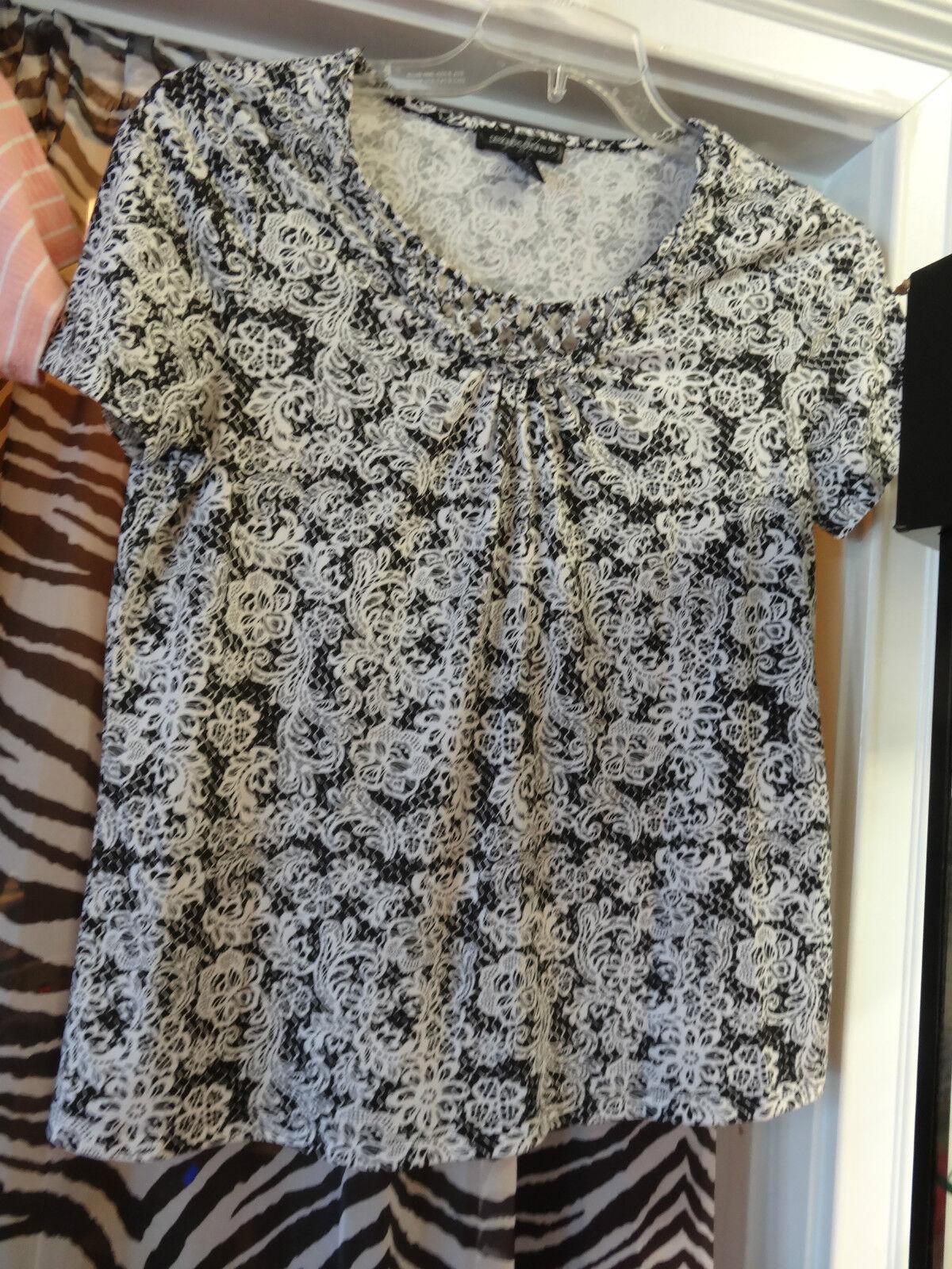 Designers Originals schwarz & Weiß Ladies damen Shirt Größe Small