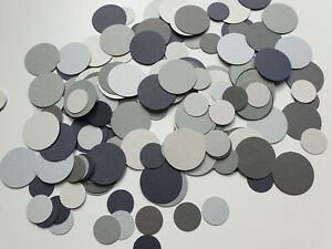 Handmade circle table confetti in black and white