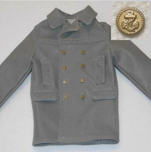 1//6 Battle Gear Toys Veste Sous-marinier Allemand 241 01 Officier Boutons Navy