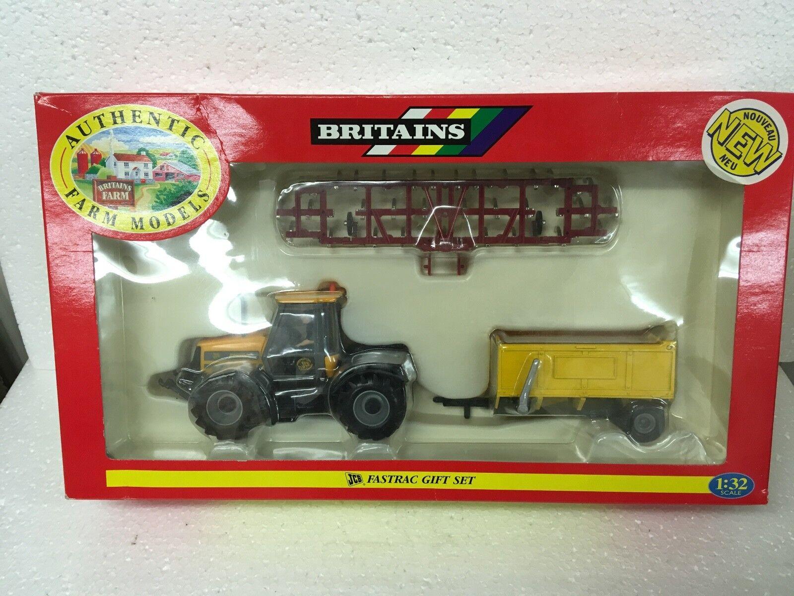 Venta en línea precio bajo descuento Britains Britains Britains 09672 JCB Fastrac Conjunto de regalo, menta en caja 1 32 Escala  tienda de venta