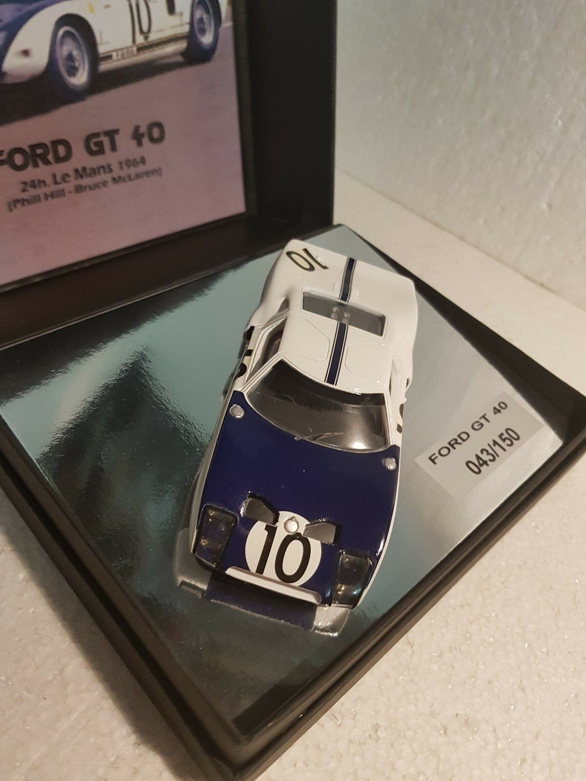 QQ HOBBY CLASSIC CLASSIC CLASSIC CL-11 Ford GT40 24h Le Mans 1964 Phill Hill - BRUCE MC laren c55299