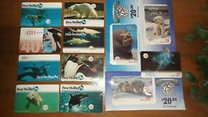 SeaWorld-Collectibles-Complete-Set-12-Phone-Cards-including-Wild-Arctic