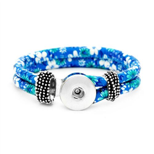 Women Fashion Handmade 18 mm À faire soi-même Snap Bracelet s/'adapte Snaps Bijoux Boutons
