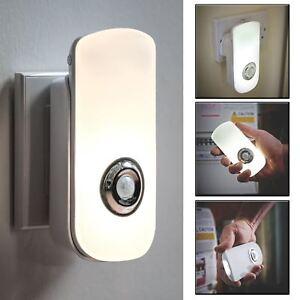Con-Enchufe-Recargable-Sensor-de-Movimiento-PIR-LED-Seguridad-LAMPARA-MESILLA