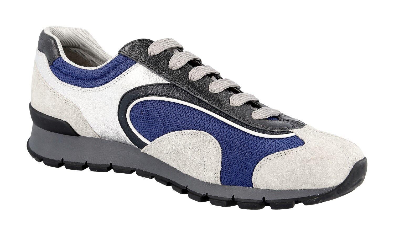 LUXUS PRADA MATCHRACE SNEAKER SNEAKER SNEAKER Zapatos 4E3080 SILBER + BLAU NEU NEW 10 44 44,5 2c4f9e