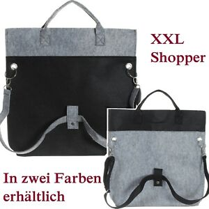 XXL-Filztasche-Shopper-Handtasche-Einkaufstasche-Gross-und-superstabil-NEU