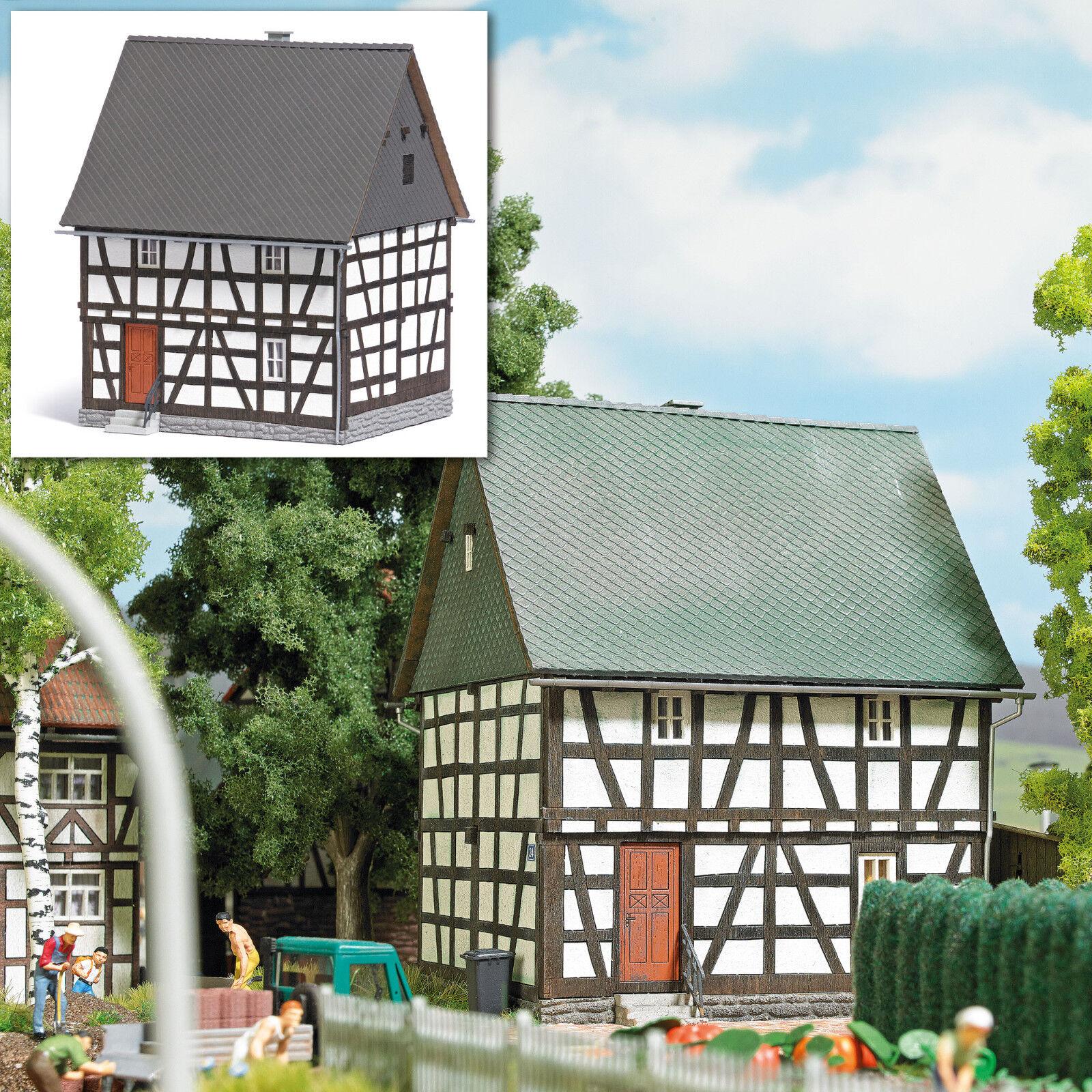 Busch 1651 Fachwerkhaus aus Ahlbach Bausatz HO Neu  | Helle Farben