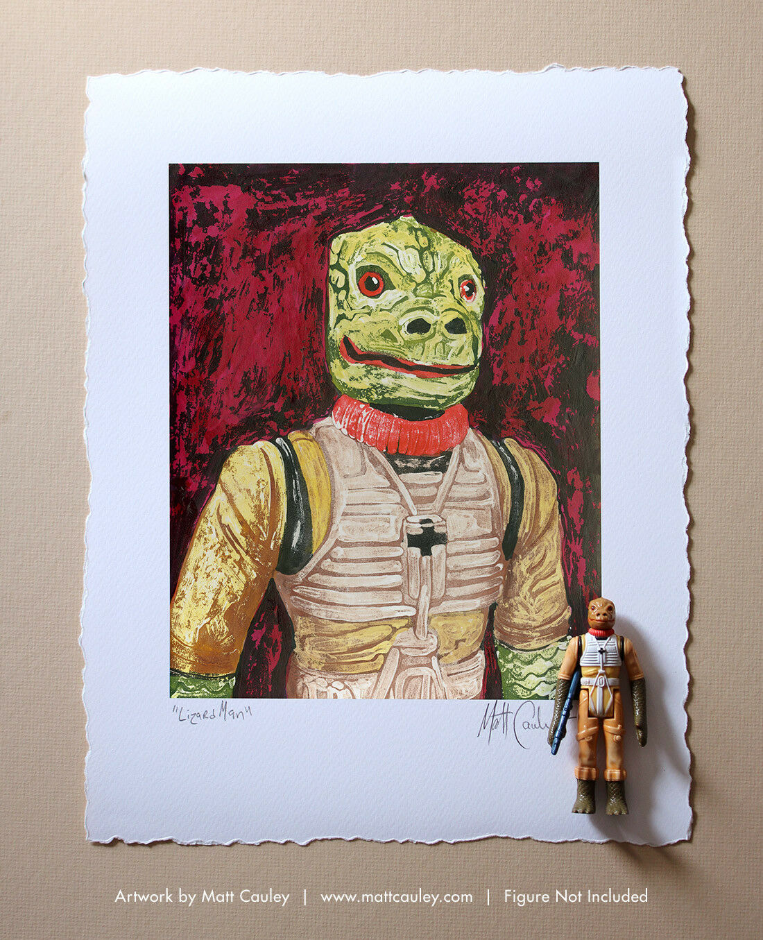 BOSSK Vintage Kenner Star Wars Action Figure ORIGINAL ART PRINT 3.75 ESB