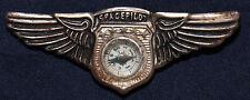 Original Vintage Space Pilot Compass Wings Pin