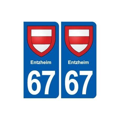 67 Entzheim blason autocollant plaque stickers ville droits